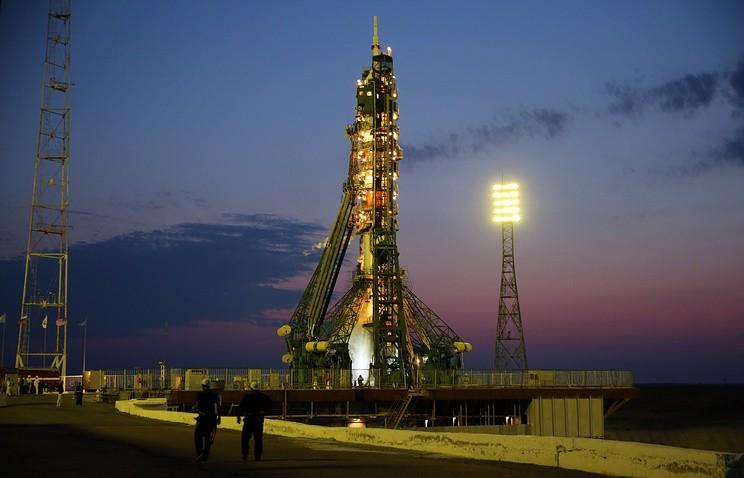 На Байконуре подготовлена к старту ракета с кораблём Союз МС