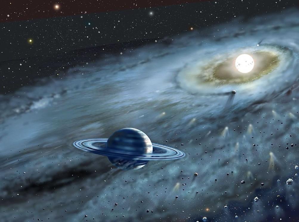 Ученые обнаружили экзопланету скольцами, которые вращаются в различные стороны