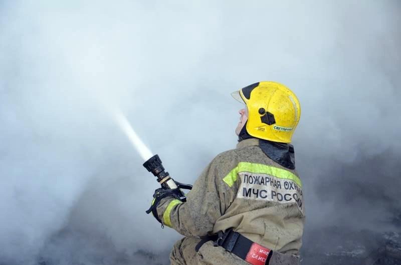 ВПодмосковье полыхает магазин «Дикси», площадь пожара 2520 квадратных метров