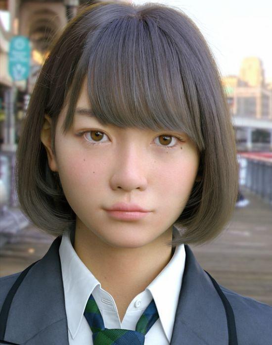 Японцы создали компьютерную девушку, неотличимую отнастоящей