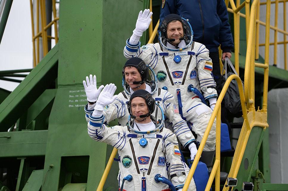 Новый экипаж МКС прибыл наБайконур для старта вкосмос