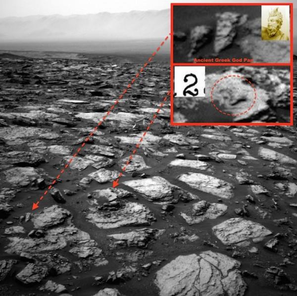 На Марсе обнаружили статую древнегреческого бога
