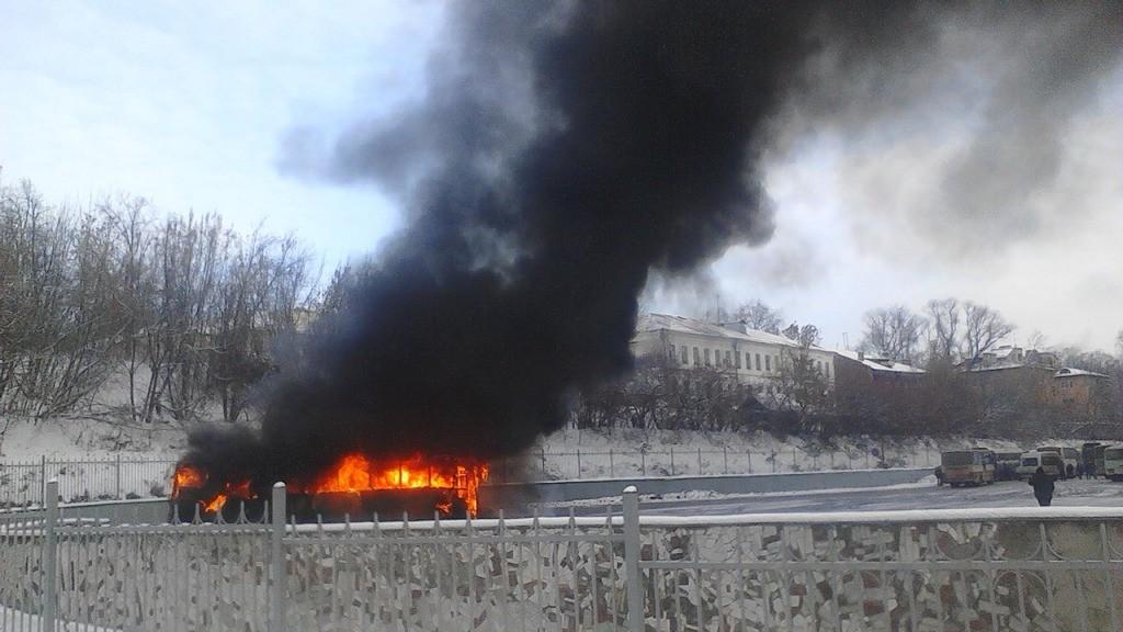 Возгорание рейсового автобуса наВладимирском автовокзале