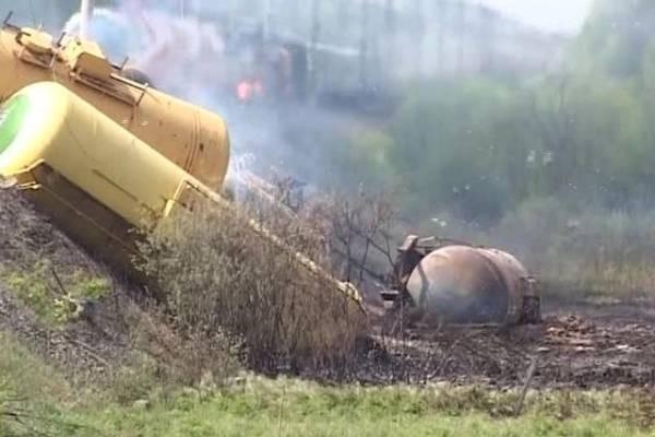 ВоФранции сошел срельсов поезд, перевозивший химикаты