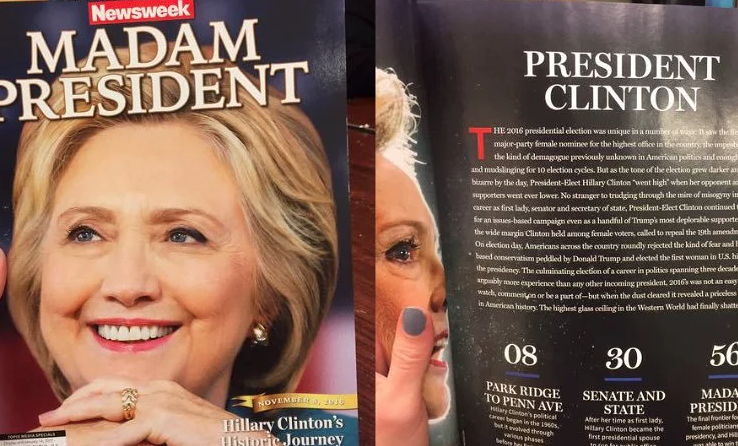 Хиллари Клинтон стала президентом по«версии» Newsweek