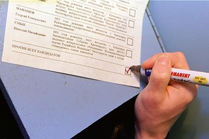 Законодательный проект овведении графы «против всех» навыборах всех уровней отклонен Государственной думой