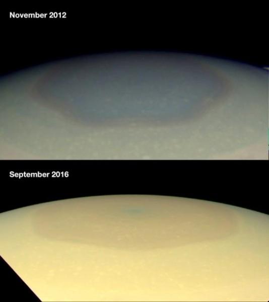 Шестиугольное облако Сатурна продолжает удивлять учёных