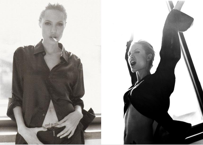 Размещены скандальные фотографии молодой Анджелины Джоли