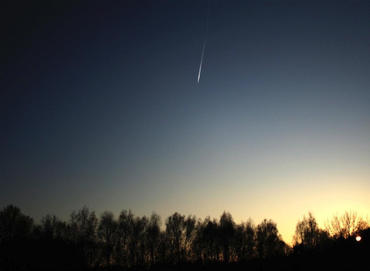 Винтернете появилось видео падения метеорита вХакасии
