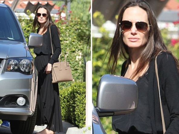 Анджелина Джоли попала в объектив папарацци