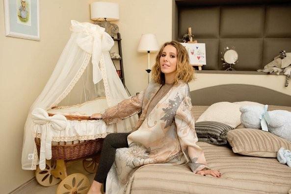 Ксения Собчак показала спальню своего сына