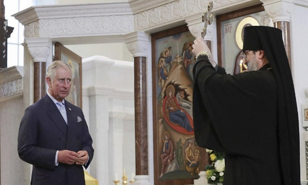 Принц Чарльз встолице Англии нанес визит российскому Успенскому собору