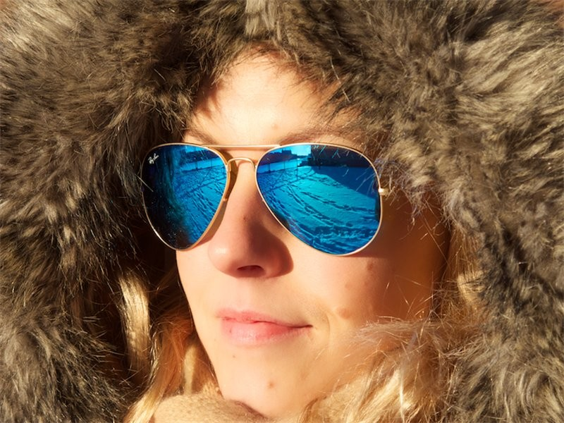 Зимние солнцезащитные очки
