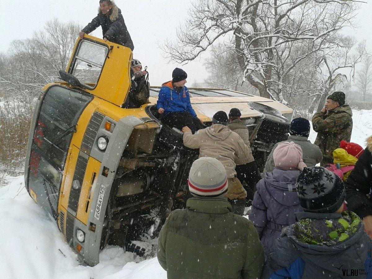 Под Иваново автобус съехал вкювет: пострадали 5 человек
