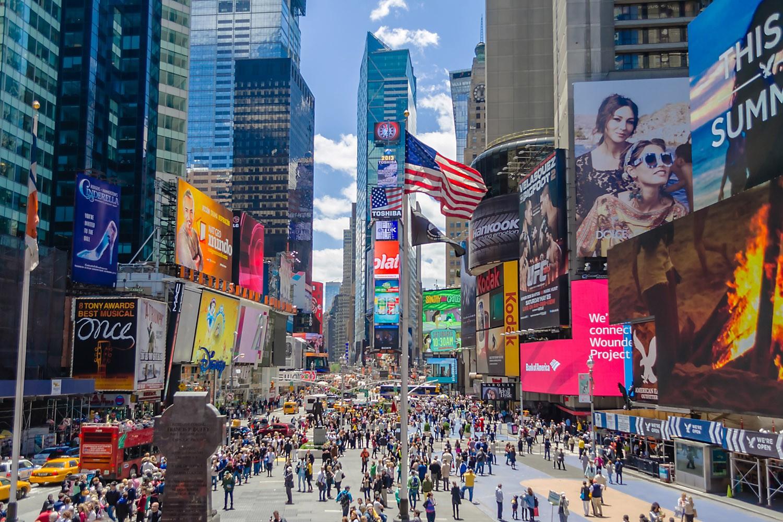 Неменее 60 млн туристов посетили Нью-Йорк втечении следующего года