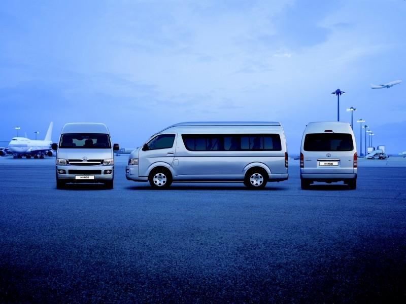 Тойота обновит компоновку микроавтобуса HiAce