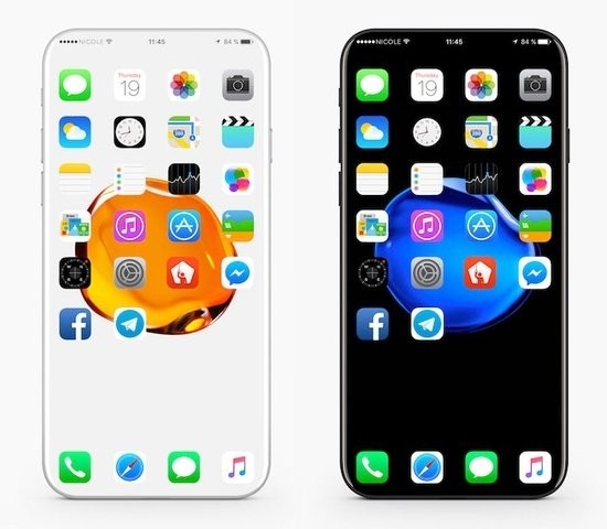 Вглобальной web-сети показали концепт-кар безрамочного iPhone 8