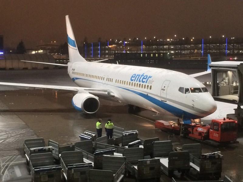 ВПольше самолет совершил вынужденную посадку— в мотор угодила птица