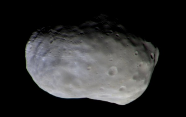 Зонд миссии «ЭкзоМарс» передал первый снимок Фобоса