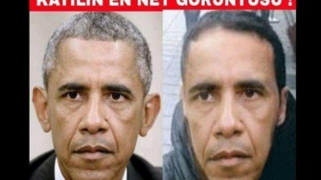 Обама попал на лозунги орозыске террориста после трагедии вСтамбуле