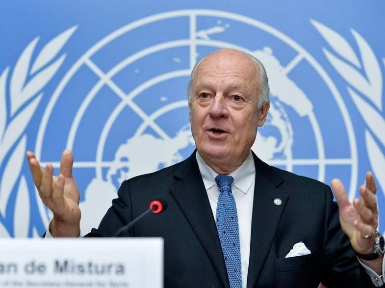 ДеМистура выразил надежду научастие впереговорах поСирии вАстане