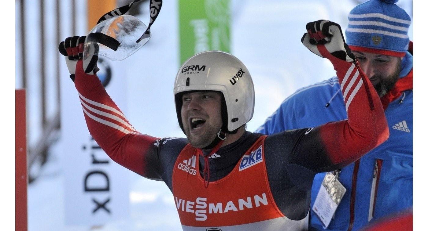 Русский саночник Семен Павличенко завоевал золото чемпионата Европы