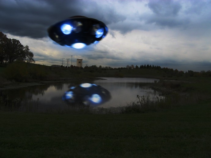 Вночном небе Италии был замечен НЛО
