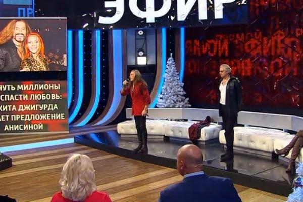 Никита Джигурда в прямом эфире подрался с Борисом Корчевниковым
