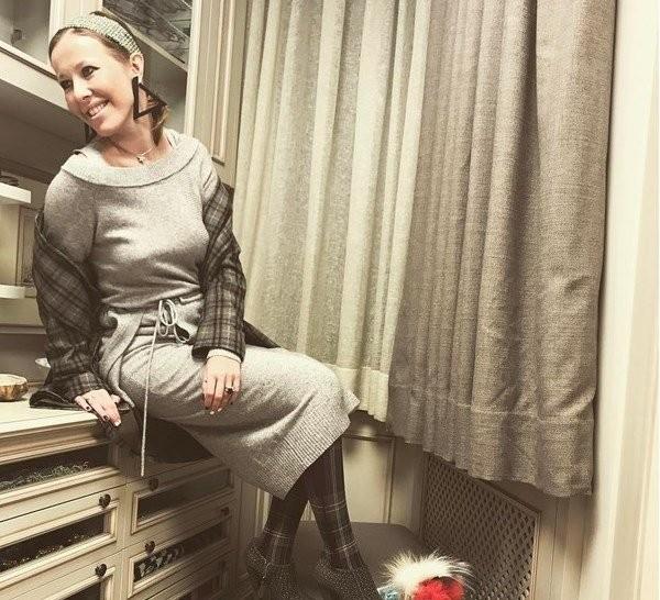 Ксения Собчак вышла всвет без нижнего белья