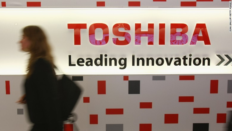 19января акции японской компании Toshiba упали на26%