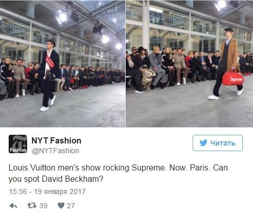 Louis Vuitton иSupreme представили общую коллекцию встолице франции