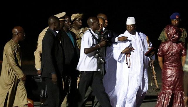 Экс-президент Гамбии отправился визгнание
