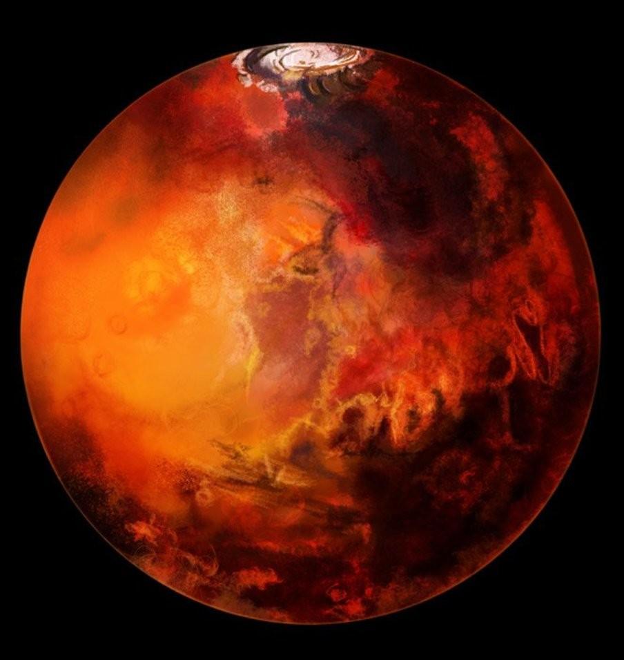 Старинный Марс был теплым из-за необыкновенной атмосферы