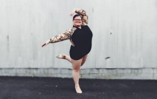 Юная балерина с нестандартными размерами прославилась в интернете