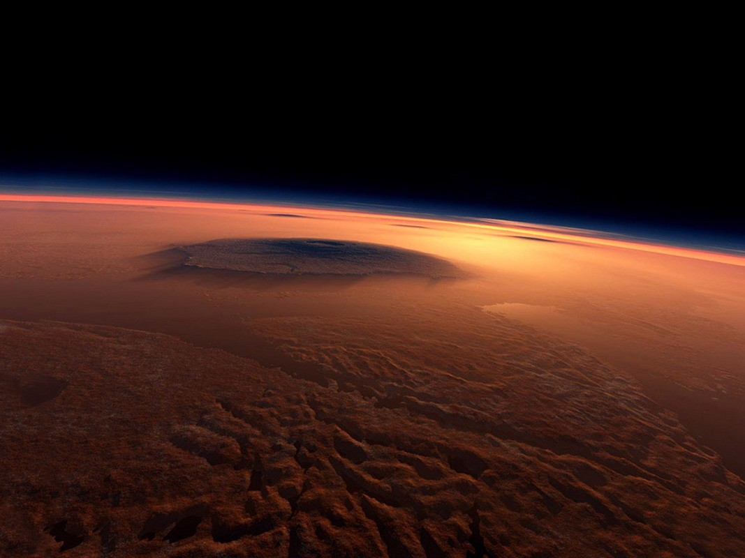 Северная полярная шапка Марса напоминает булочку ккорицей