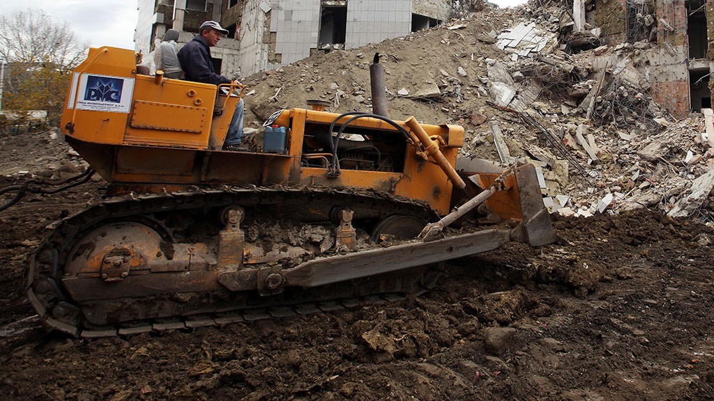 Вцентре Белграда взорвали бомбу весом 500кг