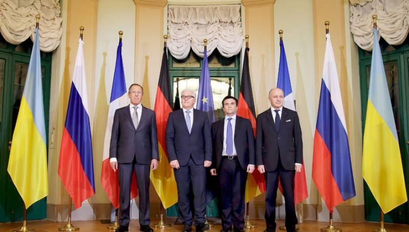 Встреча глав МИД «нормандской четверки» возможна вБонне всередине февраля