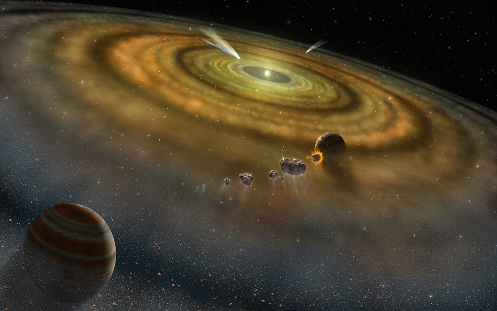 Определено время жизни Солнечного газового диска