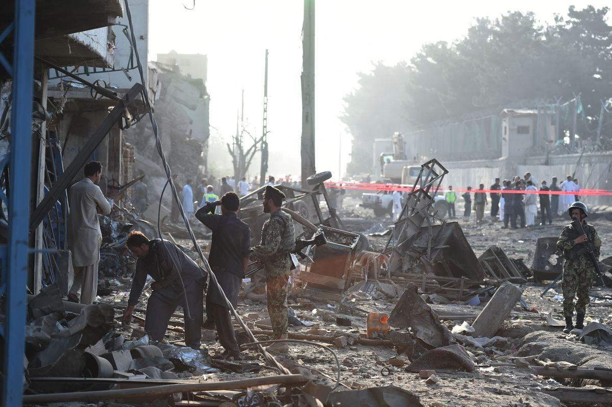 При взрыве вАфганистане 11 человек погибли, 21 ранен
