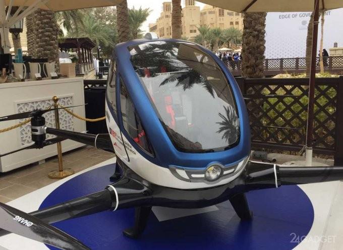 В Дубае летом запустят пассажирские дроны