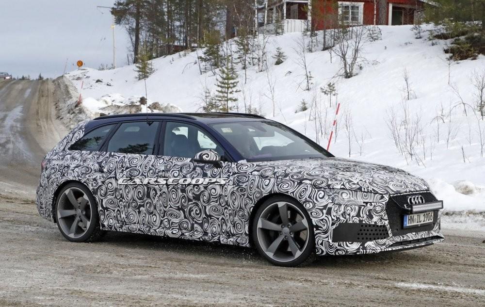 Обновленная версия Ауди RS4 Avant уже проходит тестирования