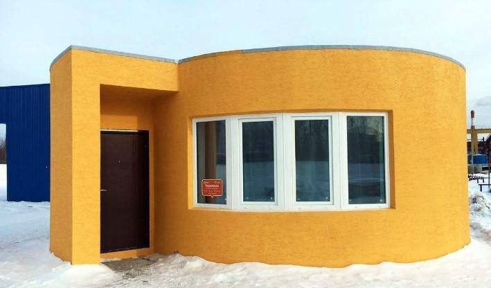1-ый в Российской Федерации напечатанный на3D-принтере дом появился вПодмосковье