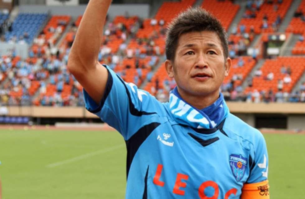 50-летний нападающий Миура сыграл официальный матч вдень своего юбилея