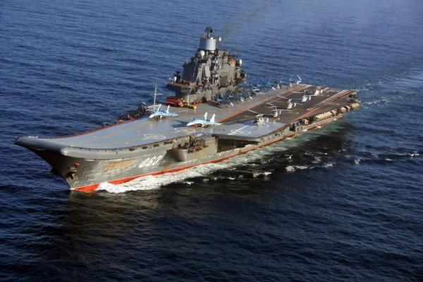 В Североморске проходит торжество в честь встречи авианосца «Адмирал Кузнецов»