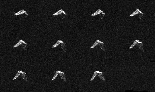 Ученые получили снимки астероида, миновавшего Землю