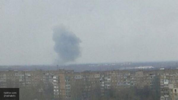 В Донецке произошел мощный взрыв
