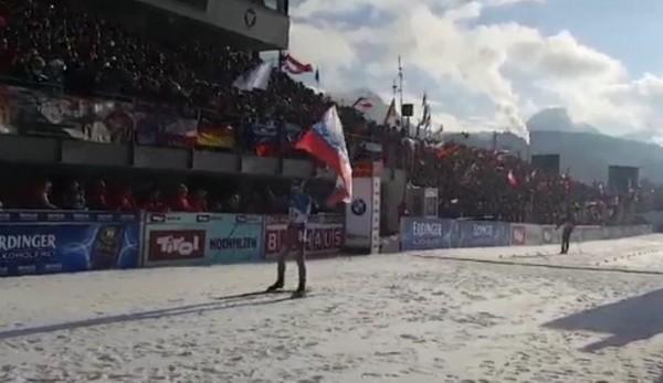 Россияне выиграли чемпионат мира по биатлону в мужской эстафете в Австрии