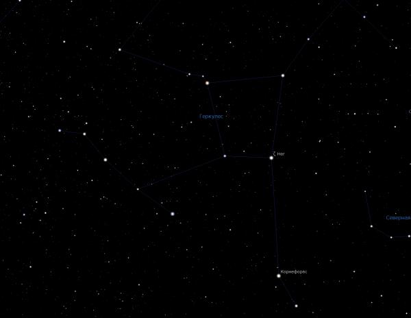 Датские астрономы исследовали звезду в созвездии Геркулеса