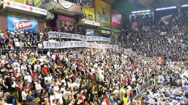 Баскетбольные болельщики Сербии почтили память Виталия Чуркина