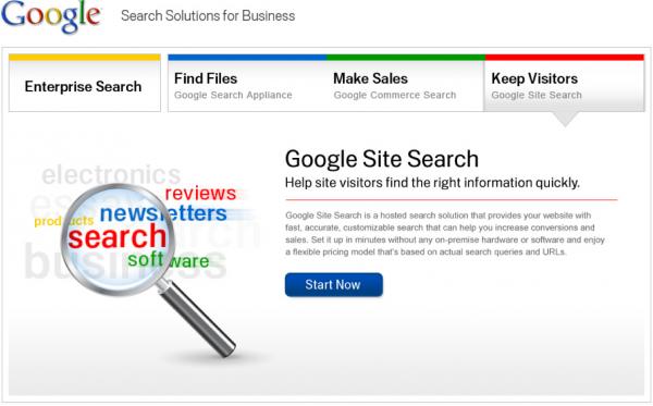 Google прекратит поддерживать встраиваемый поисковик Site Search